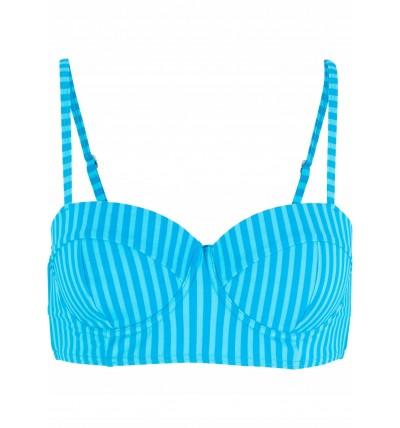 Biustonosz bikini niebieski...