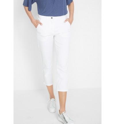 Spodnie damskie 7/8 białe