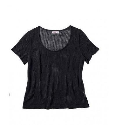 Sweter damski ażurowy czarny