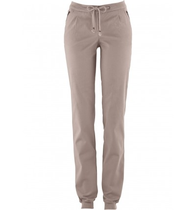 Spodnie damskie wiązane szare