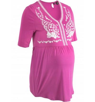 Bluzka ciążowa fioletowa