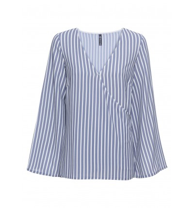 Bluzka damska niebieska w...
