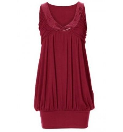 Sukienka damska czerwona z...