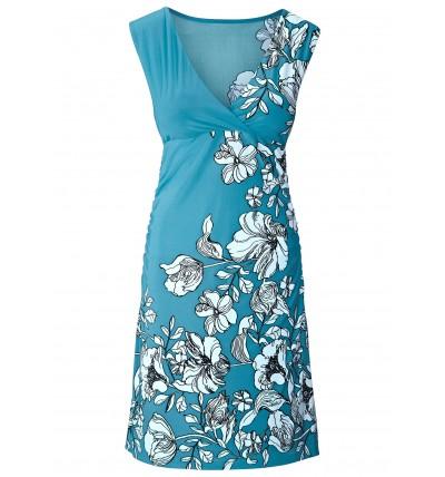 Sukienka damska niebieska w...