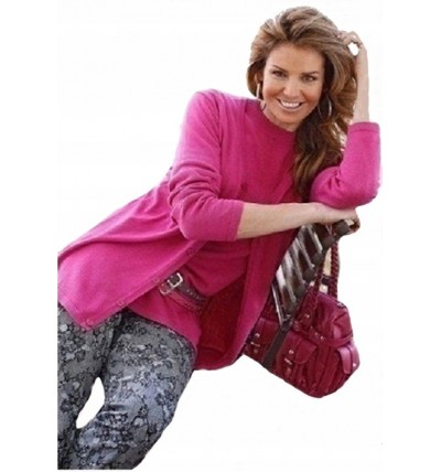 Sweter damski cienki różowy