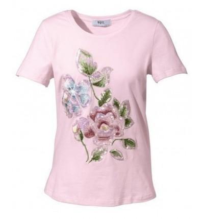 Bluzka damska różowa z...