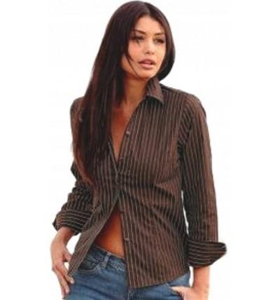 Koszula damska brązowa w paski