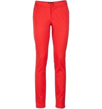 Spodnie damskie czerwone z...