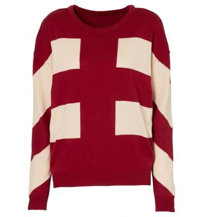 Sweter damski zdobiony wzorem