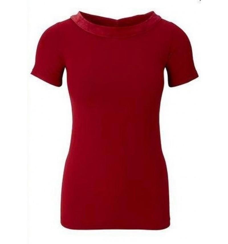 Bluzka w kolorze czerwonym. Poglądowe zdjęcie w kolorze czarnym